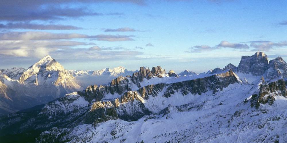 Mario De Biasi, Dal rifugio Lagazuoi, tra Cortina e Val Badia, anni 80