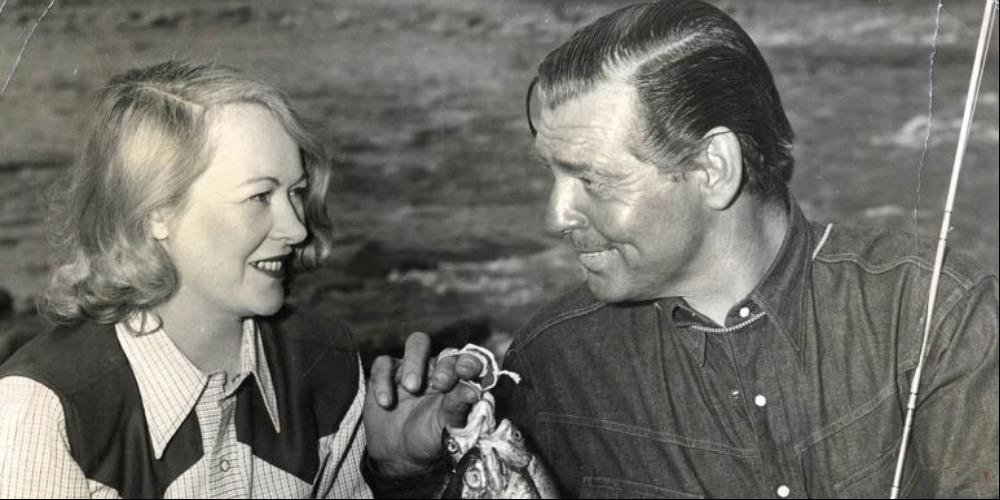Ellis Haynes, Clark Gable and Silvia Ashley, Colorado, 1949