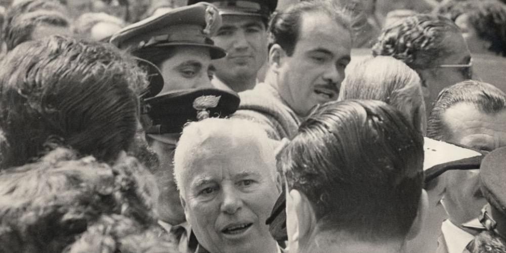Carlo Cisventi, Charlie Chaplin in Italia, 1952