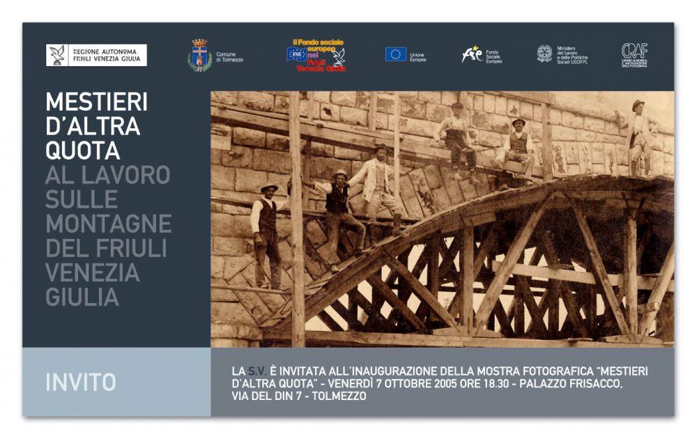 Mestieri d 39 altra quota al lavoro sulle montagne del - Mostre friuli venezia giulia ...